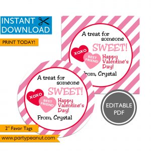 Treat For Someone Sweet Valentine's Day Tags
