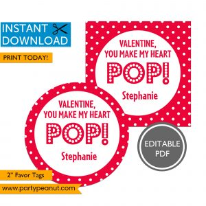 You Make My Heart POP Valentine's Day Tag